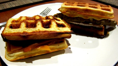 Waffle Sandwiches for Belgian Hup night