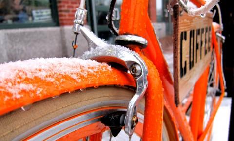 February Snow at Ride Studio Cafe - photo - Rob Vandermark