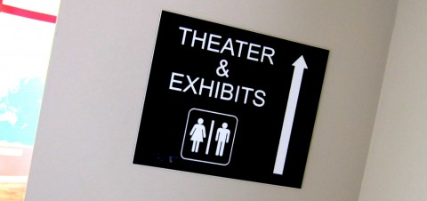 The Theater and Exhibits Are Also the Toilet; That's Convenient