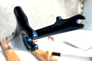 Carbon Fender Mount Prototype for Seven Cycles