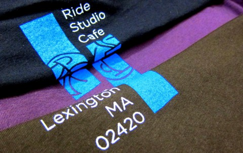 Autumn t-shirt in three colors for Ride Studio Cafe