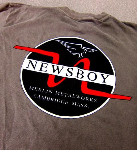 Merlin Newsboy t-shirt, back