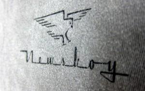 Merlin Newsboy t-shirt, front
