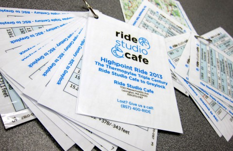 Highpoint Ride cue sheets 2013