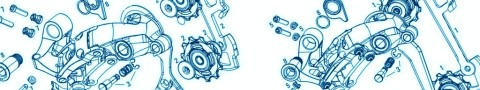 Exploded view derailleur - rotate