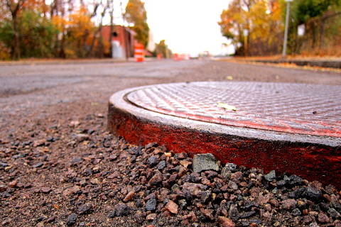 Graveling the road - photo - Rob Vandermark