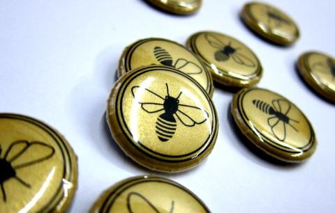Honey Bee Buttons