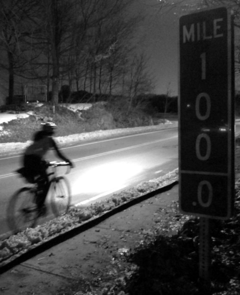 One Hundred miles in sub-freezing temperatures, absolutely - and bring lights - photo - Rob Vandermark