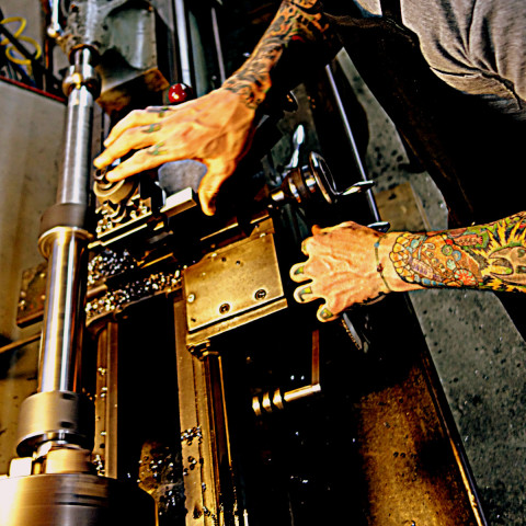 Project Pioneer lathe as an instrument - photo - Rob Vandermark