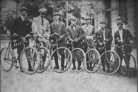 Cyclists in Hyde Park during the 1879 Wheel Around the Hub - photo - unknown - Larry Finison