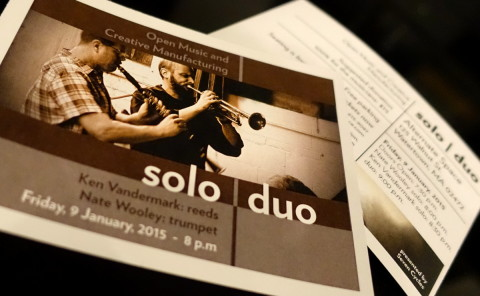 Solo Duo cards - photo - Rob Vandermark