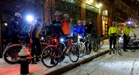 First Snow 2015 Ride Departure - photo - Rob Vandermark