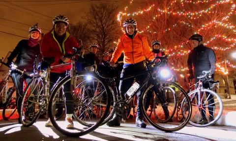 Fun Group Smiles on the Winter Wonderland Ride - photo - Rob Vandermark