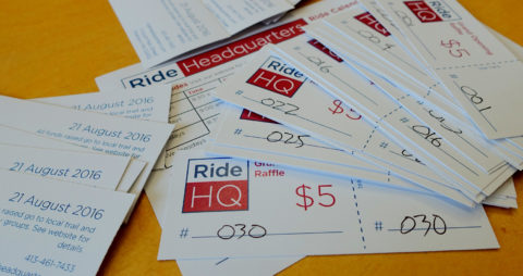Ride HQ Raffle Tickets Grand Opening - photo - Rob Vandermark